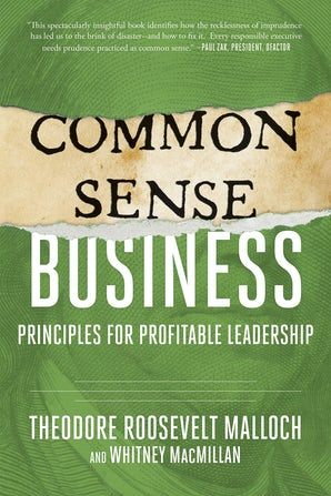 Common-Sense Business book image