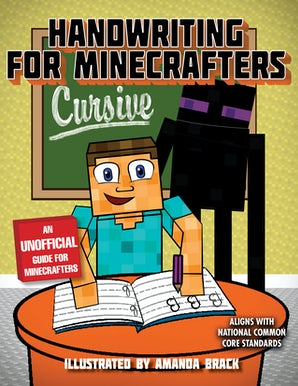 Handwriting for Minecrafters: Cursive book image