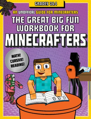The Great Big Fun Workbook for Minecrafters: Grades 3 & 4 book image