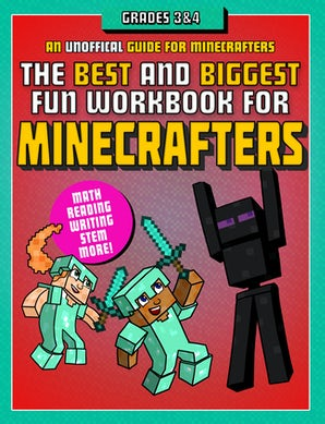 The Best and Biggest Fun Workbook for Minecrafters Grades 3 & 4 book image