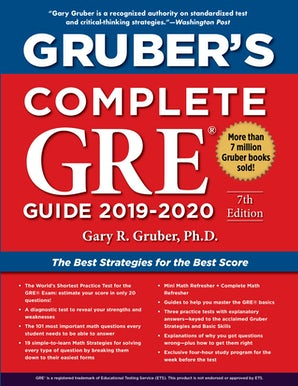 Gruber's Complete GRE Guide 2019-2020 book image