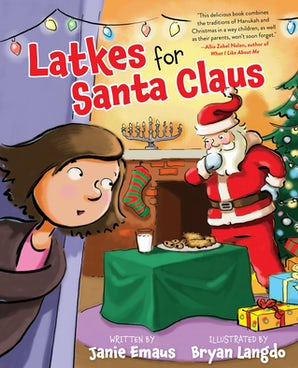Latkes for Santa Claus book image