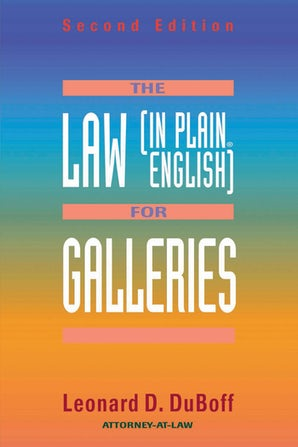The Law (in Plain English) for Galleries book image