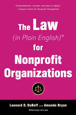 The Law (in Plain English) for Nonprofit Organizations book image