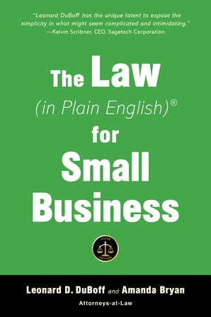 The Law (in Plain English) for Small Business (Fifth Edition) book image