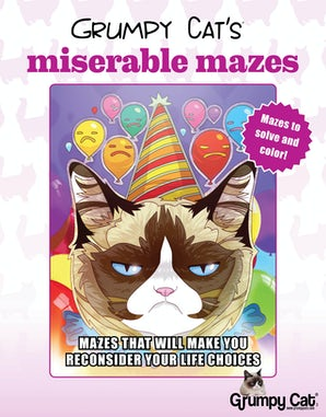 Grumpy Cat's Miserable Mazes book image